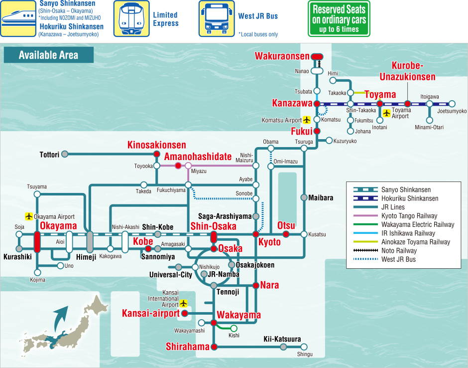 West Japan Railway Company KansaiHokuriku Area Pass Information