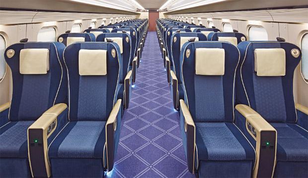 west japan railway company hokuriku shinkansen interior design. Black Bedroom Furniture Sets. Home Design Ideas