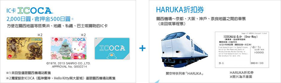 IC卡ICOCA HARUKA折扣券