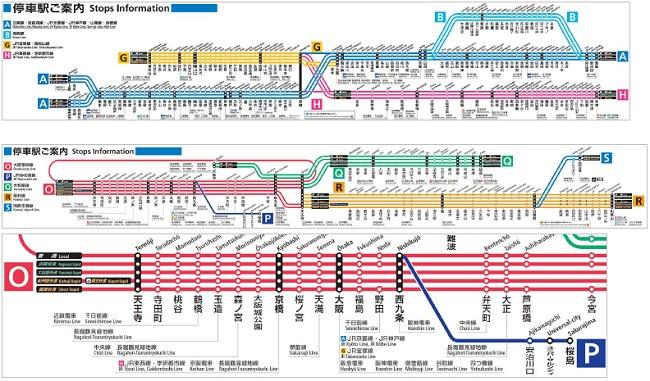 近畿エリア 停車駅案内イメージ